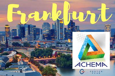 Achema Frankfurt 2021 Kimya Mühendisliği ve İşleme Endüstrisi Fuarı